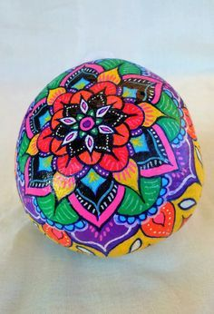 Mandala Energy Stone TRIBAL FLOWER by MandalaEnergyStones