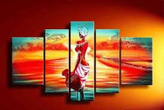Resultado de imagem para pintura africana abstrata