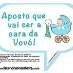 Plaquinhas Divertidas Chá de Bebê Menino 9