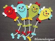 Crochet Applique Dragon © by Blumendesigner on DaW Crochet Bookmarks, Crochet Books, Crochet Gifts, Love Crochet, Crochet For Kids, Crochet Flowers, Crochet Baby, Baby Knitting Patterns, Crochet Applique Patterns Free