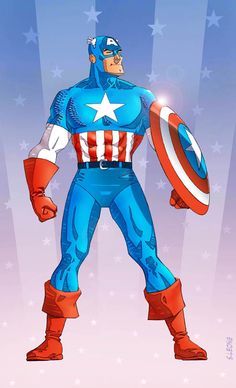 Captain America 1 by pencilco Steve Rogers, Marvel Art, Marvel Heroes, Captain Amerika, Captain America Art, Adventures Of Superman, Famous Cartoons, American Comics, Cartoon Kids