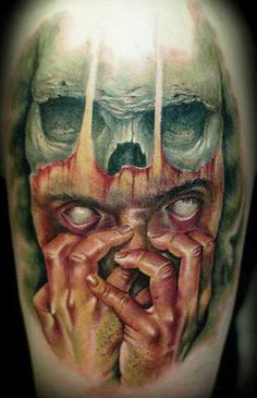 Halloween and Horror Tattoos | InkDoneRight.com  Zombies, Demons, Skulls, Serial Killers, or a Devil? Maybe just a few Bats? What are your favorite Halloween and Horror Tattoos? We collected the most...