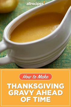 "How to Make Thanksgiving Gravy Ahead of Time | ""What you should do instead is make gravy days or even weeks before Thanksgiving and stash it in your freezer until turkey day. Here's how to make gravy ahead of time and how to give it a final boost of freshly roasted turkey flavor right before serving."" #thanksgiving #thankgivingrecipes #makeahead Thanksgiving Gravy, Thanksgiving Recipes, Fall Recipes, Make Ahead Gravy, How To Make Gravy, Porcini Mushrooms, Stuffed Mushrooms, Good Gravy, Turkey Wings"