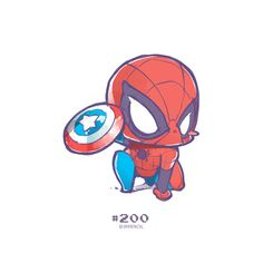 244 and counting. wanna say Thank you to all who stuck with me while drawing all this chibi. and the rest. Chibi Marvel, Marvel Art, Marvel Dc Comics, Marvel Avengers, Chibi Spiderman, Civil War 2 Marvel, Chibi Superhero, Spiderman Stickers, Superhero Cosplay