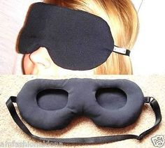 MOST COMFORTABLE SLEEP MASK WITHOUT TOUCHING EYES- perfect for napping on a plane or train without having to worry about messing up makeup!