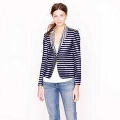 NEW $247 J.Crew Women's Striped Schoolboy Blazer, Size 6 BLUE 39921 Casual Suit #JCrew #Blazer