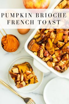 #AD Pumpkin Apple Brioche French Toast makes for a delicious weekend brunch dish made with brioche bread, pumpkin puree, eggs and pumpkin pie spice. You'll love how fluffy it is and that it's spiced just right with all of the fall flavors! #pumpkin #frenchtoast #pumpkinfrenchtoast #eggs #eggnutrition #fall #brunch #weekend #pumpkin #pumpkinspice #fall #pumpkinfrenchtoast #breakfast #onceuponapumpkin Pumpkin Breakfast, Pumpkin Dessert, Breakfast Ideas, Breakfast Recipes, Dessert Recipes, Brioche French Toast, Pumpkin French Toast, Brioche Bread, Apple Recipes