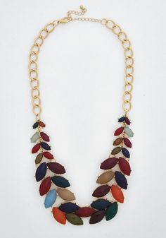 Berry Good Harvest Necklace in Bright. Celebrate a pleasant day of wandering the orchard with your friends by baking a tart in this brilliant bib necklace! #multi #modcloth