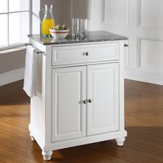 Baxton Studio Meryland White Modern Kitchen Island Cart (Cart-White ...