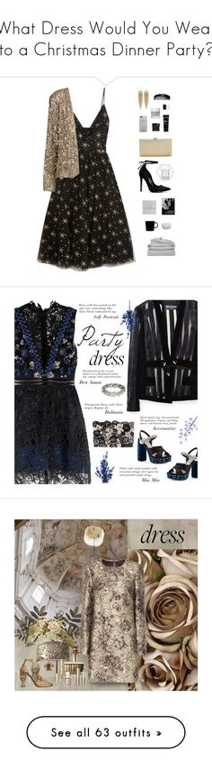 """""""What Dress Would You Wear to a Christmas Dinner Party?"""" by keziakaligis ❤ liked on Polyvore featuring Valentino, Dogeared, iittala, Bloomingville, La Regale, Kenneth Jay Lane, GANT, NYX, Tart and Omorovicza"""