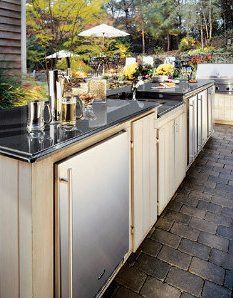 Outdoor kitchens are a great idea.