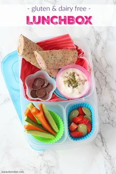 A quick and easy lunch box idea that's gluten and dairy free and can be made in just 5 minutes!