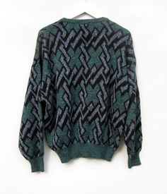 Vintage Geometric Cosby  Sweater    by Gintro    $27.00