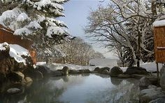 Wow - must get to Japan. The Green Leaf Niseko has an open-air bath within a natural outdoor rock pool fed by a clear mineral spring