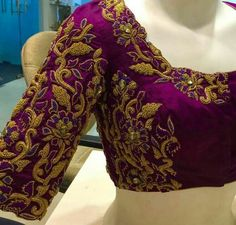 Zardosi work Blouses with Floral Design
