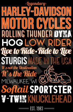 Harley Davidson Art Canvas or Poster by SarasPrints on Etsy, $14.95