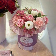 Цветы в шляпной коробке. Заказать можно www.facebook.com/teiepidu