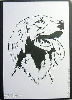 Картина, панно, рисунок Вырезание: Навырезалось... Собаки Бумага. Фото 2