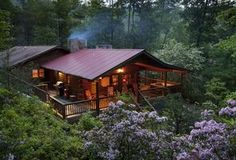 Cabins And Cottages: Now I could do this Tiny House log cabin, and I do not really like log cabins! But, porches make everything better. Little Cabin, Little Houses, Tiny Houses, Cabin Plans, House Plans, Cedar Log, Cedar Cabin, Timber Cabin, Log Cabin Homes