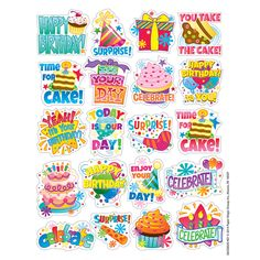 Birthday Theme Stickers