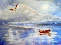 Csónak és a madarak. Techno, Painting, Art, Art Background, Painting Art, Kunst, Paintings, Performing Arts, Techno Music