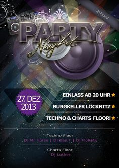 Partynight Musik Flyer  von 2013  Design by Christian Deporter