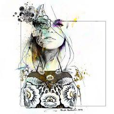 It was a pleasure to work on this piece :) #ink #art #sketch #artwork #artist_features #artist_magazine #fashion #fashionart #fashionsketch #fashionillustration #illustration #portrait #valentino #maisonvalentino #bag #ladyterezie #bouchac