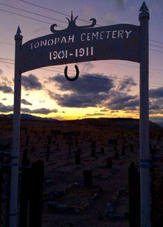 Tonopah. Roadside attraction. Nevada. Cemetery. Clown motel. Middle of nowhere. Road trip. USA. America the Beautiful. Women seeks world. Nomad. Travel. Women traveler. Sunset.