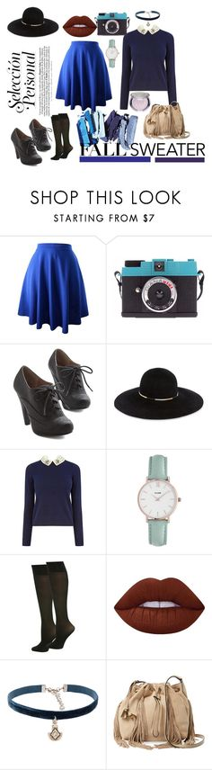 Ravenclaw in Fall by kristin-goetze on Polyvore featuring Oasis, M&Co, Diane Von Furstenberg, CLUSE, Natalie B, Eugenia Kim, Lime Crime and Sephora Collection