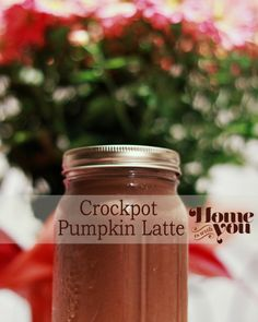Home is with You: Crockpot Pumpkin Latte. This would be awesome for tailgating or parties!