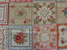vintage Hankerchief Fabric