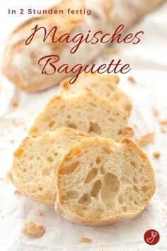 Brot Rezepte, Rezepte Grillen: Rezept für ein superschnelles Baguette. Kein Kneten und in 2 Stunden fertig Ideal zum Geburtstag, zur Konfirmation oder auch zur Hochzeit #brot #backen #grillen