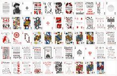 P22 playing card deck - all face designs