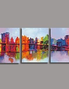 Hand Painted  Oil Painting Modern Abstract with Stretched Fr... – AUD $ 144.46