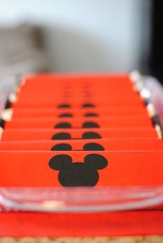 Mickey Mouse party favors candy bar