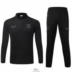 boutique equipe de france Nouveau Survetement de foot PSG Noir 2015 2016 -02 destockage