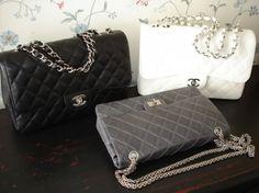 Chanel Classic flap bag and Chanel Reissue bag - Handbags, Purses, and Bags - Zimbio! They are gorgeous! Burberry Handbags, Chanel Handbags, Louis Vuitton Handbags, Purses And Handbags, Designer Handbags, Chanel Bags, Chanel Reissue, Grey Purses, Beautiful Handbags