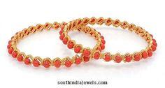 22k gold coral bangles design