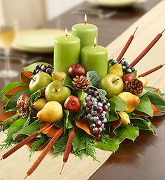 Holiday Gatherings Centerpieces: lovely candles