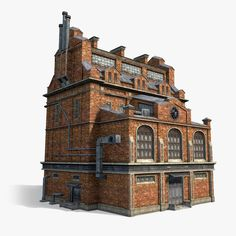 Urban Industrial Decor Tips Urban Industrial, Industrial Style, Steampunk City, Property Buyers, Small Pantry, Old Factory, Urban Loft, 3d Home, 3d Max