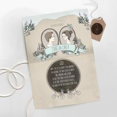 Illustrated Wedding Invitations from Me + E