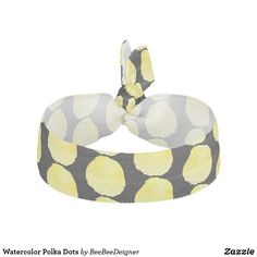 Shop Watercolor Polka Dots Elastic Hair Tie created by BeeBeeDeigner. Elastic Hair Ties, Tie Dress, Bridesmaid Gifts, Watercolors, Polka Dots, Classy, Pattern, Hair Tie, Bridesmaid Presents