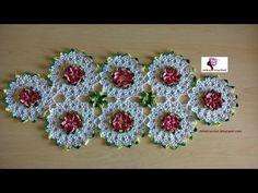 Paso a Paso - Camino de Mesa Primaveril- Crochet o Ganchillo - YouTube
