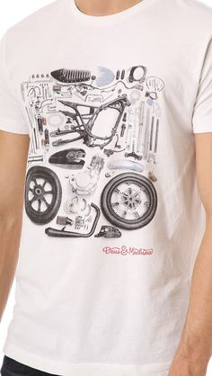 deconstructed motorcycle tee