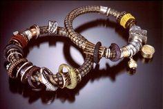 Celie Fago Carved Polymer Bracelets Photo by Robert Diamante