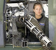 Vanessa Dobos is a gunner of a USAF AC-130 gunship. She has seen action in Iraq and Afghanistan.