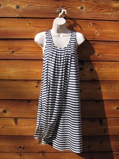 c7b4cc2575 JEAN PAUL GAULTIER FOR TARGET Dress Size Small Striped Navy White Pleated  EUC  JEANPAULGAULTIERFORTARGET  Shift  Casual