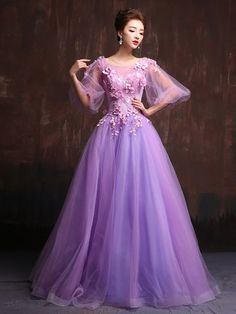 Victorian Style Purple Modest Quinceanera Ball Gown Prom Dress Home Coming Dress Sweet Sixteen Dress X020