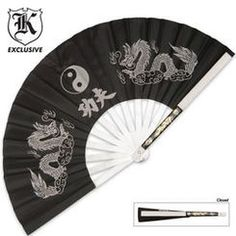 $30 Martial Arts Fan Black