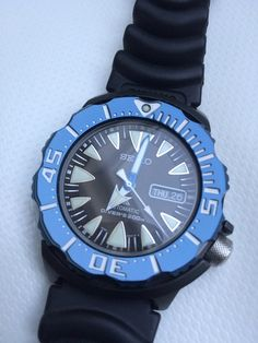 TK Seiko SRP581K1 nieuwstaat - Horlogemarkt.nl - Horlogeforum.nl - het forum voor liefhebbers van horloges Seiko Monster, Bracelet Watch, Watches, Bracelets, Accessories, Wristwatches, Clock, Clocks, Bracelet